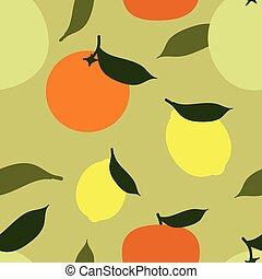 agrume, fondo, frutte