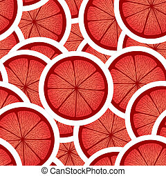 agrume, seamless, fondo, rosso