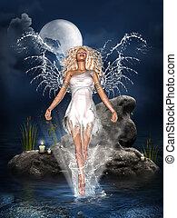agua, ángel