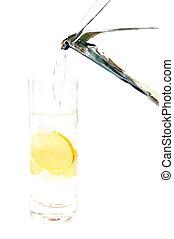 agua, 2, limón
