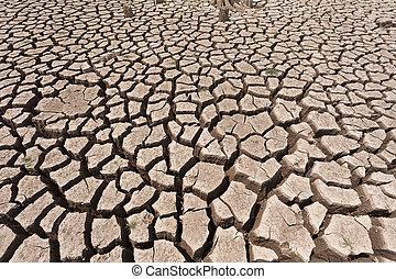 agua, agrietado, tierra, seco, sin