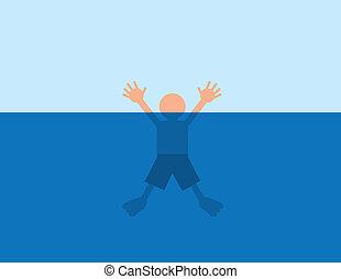 agua, ahogo