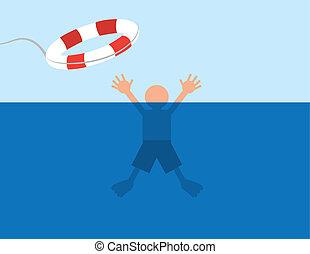agua, ahogo, salvar