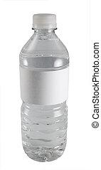 agua, aislado, botella