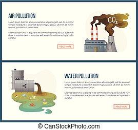 agua, ambiental, problema, contaminación, aire