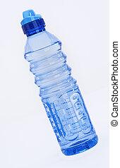 agua azul, botella, fresco