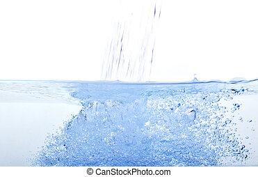 agua azul, burbuja