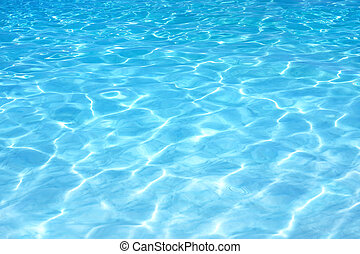 agua azul, onda, plano de fondo, brillar