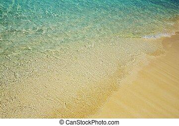 agua azul, orilla, 5, ondas
