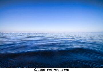 agua azul, resumen, plano de fondo, vista marina