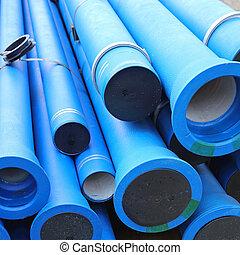 agua azul, tubos