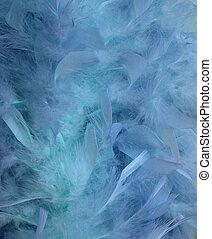 agua azul, y, pluma, mancha, plano de fondo