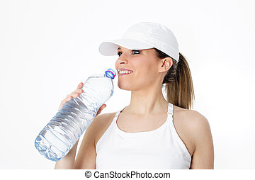 agua bebida