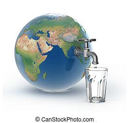 agua, bebida, crisis