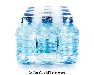 agua, blanco, embotellado, empacado