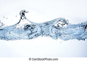 agua, blanco, salpicadura, aislado