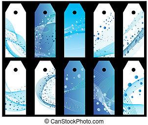 agua, bookmarks, conjunto