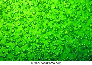 agua, burbuja, textura