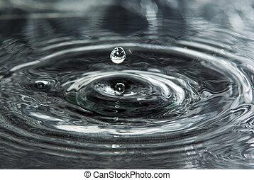 agua, caer, gotas