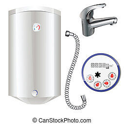 agua, calefacción, metro, caldera