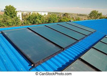 agua, calefacción, sistema solar