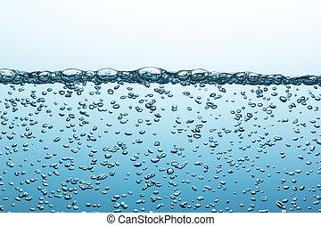 agua, caliente, burbujas