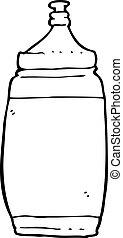 agua, caricatura, botella