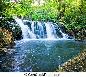 agua, chet, khot, otoño