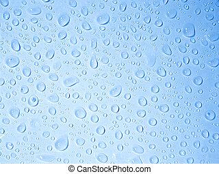 agua, claro, gotas