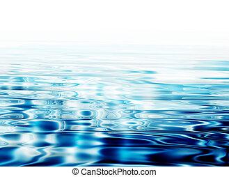 agua, claro, ondas
