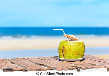 agua, coco, bebida