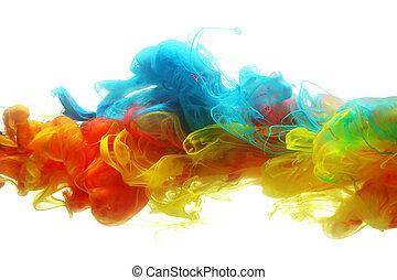 agua, colorido, tinta