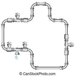 agua conduce tubería
