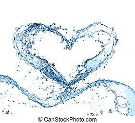 agua, corazón