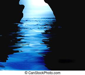 agua, cueva
