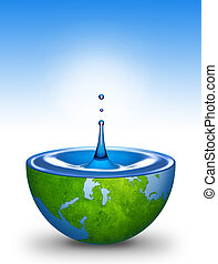 agua, de, el mundo