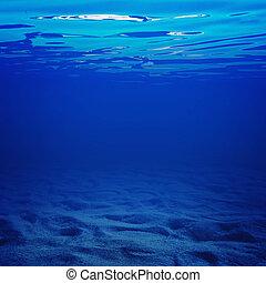 agua, debajo