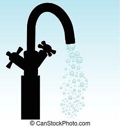 agua del grifo, ilustración