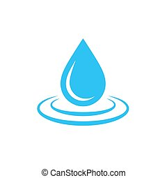 agua, drop., icon., vector