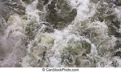 agua, ebullición, vapor, pesado