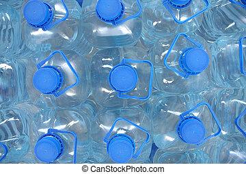 agua, embotellado, pila