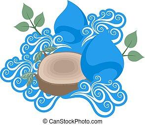 agua, energía, ilustración