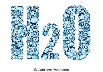 agua, fórmula, h2o