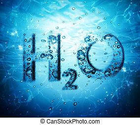 agua, fórmula
