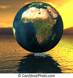 agua, globo