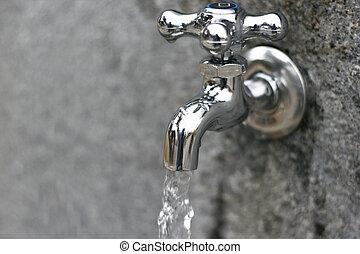 agua, grifos
