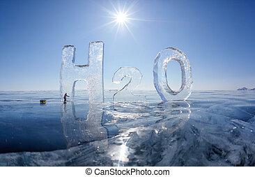 agua, h2o, químico, fórmula