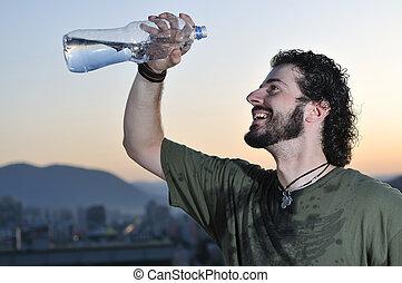 agua, hombre