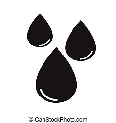 agua, icono, ilustración, diseño