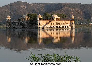 agua, india, palacio, jaipur